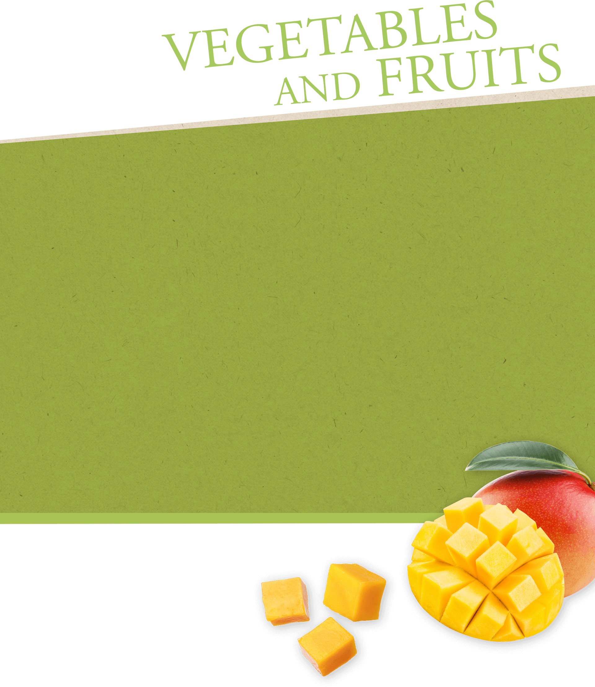 VAGETABLES AND FRUITS